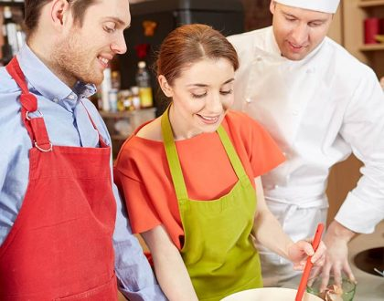 Cookery classes for team building