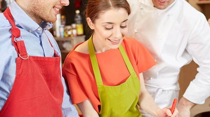Events bringing people together, cookery classes for team building and client engagement