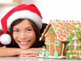 Girl with gingerbread house