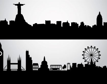 Silhouette of city scape